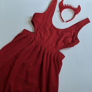 Sexy little devil costume size large red